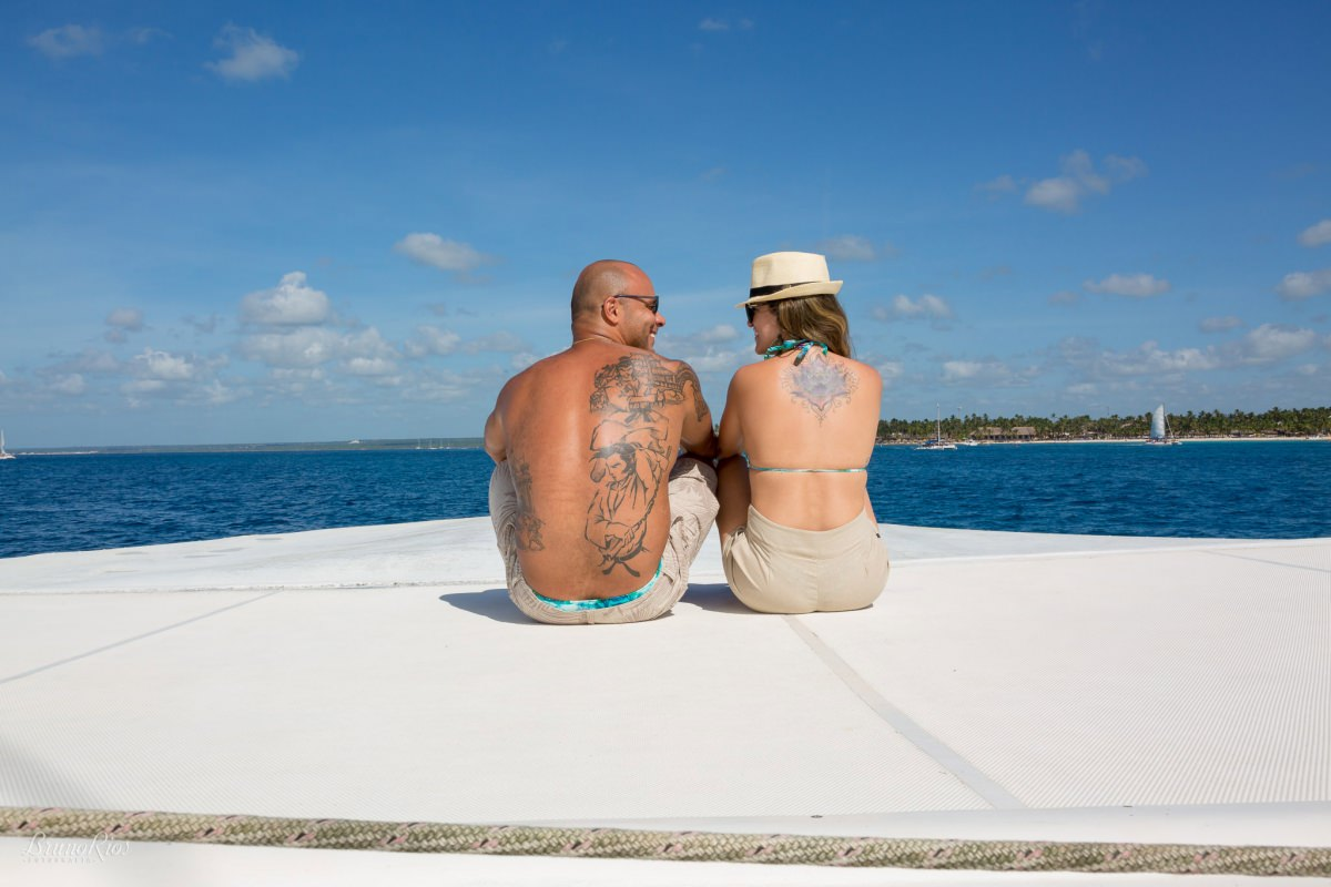 ensaio casal noivos punta cana caribe isla saona e-session punta cana isla saona barco